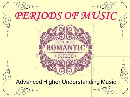 Advanced Higher Understanding Music