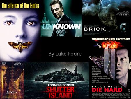 Thrillers By Luke Poore. Overview of the Genre A thriller is a film that keeps audiences on the edge of their seat for the whole movie it does this by.