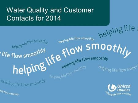 Water Quality and Customer Contacts for 2014. Water quality events 2010 -2014 and category 3 and above events.