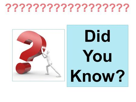 Did You Know? ??????????????????. Mathematics Educators to the Career and College Ready Conference A Quick Look at Critical Topics in Mathematics Reform.