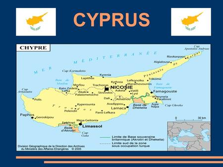 CYPRUS. Local Government System Introduction Historical reminder I/ The local system A) The local organization 1) The devolved administration 2) The.