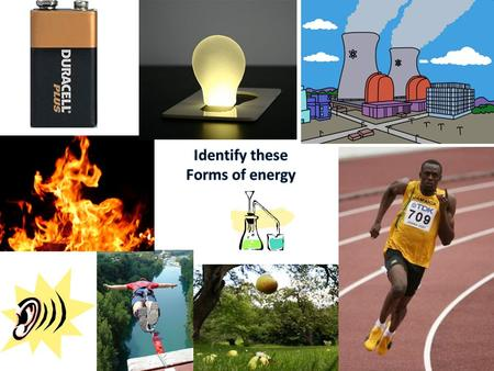 Objectives Recap the different types of energy and energy transformations. Outcomes C: Describe different types of energy. B: Explain energy transformations.