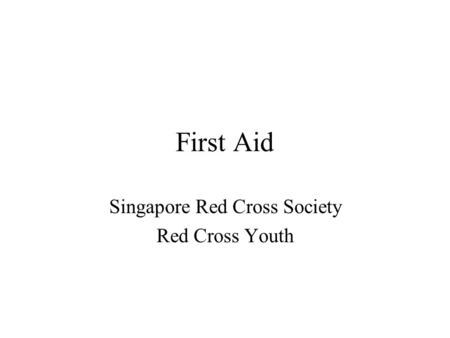 Singapore Red Cross Society Red Cross Youth