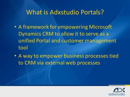What is Adxstudio Portals?
