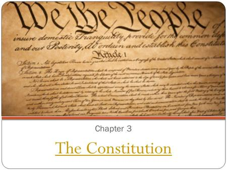 Chapter 3 The Constitution. Section 1: A Blueprint for Government Drawing lessons from history, the Framers wrote a constitution that divided, limited,