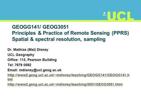 Electro Optical Systems Sensor Resolution Outline Electro