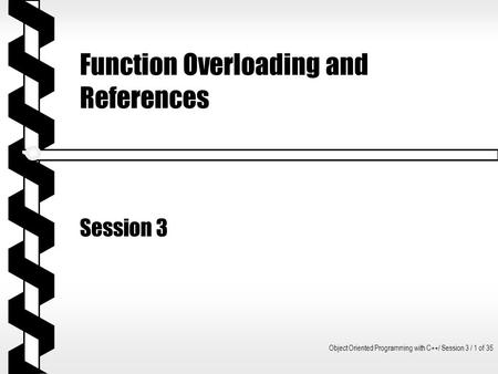 Function Overloading and References
