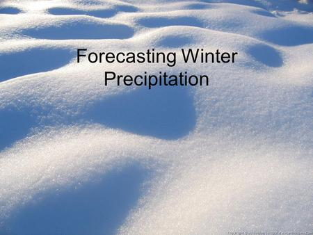 Forecasting Winter Precipitation