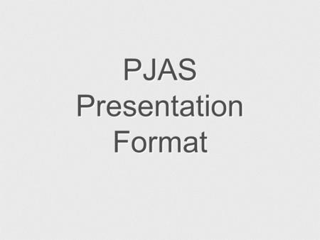 PJAS Presentation Format. The Effect of Light Power On The Evaporation Rate of Coffee.