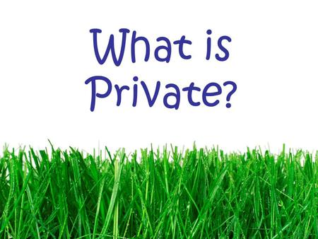 What is Private?. To have fun on the internet, we must be safe! You can have fun in cyberspace. There are stories to read. There are games to play. There.