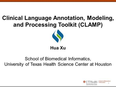 Clinical Language Annotation, Modeling, and Processing Toolkit (CLAMP)