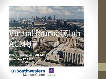 Virtual Journal Club ACMQ