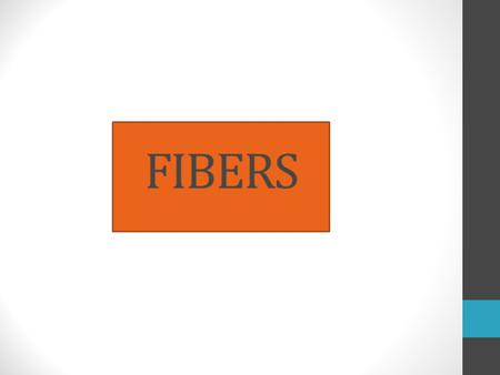 F ibers are fine,long pieces of natural or synthetic material.They are used for making threads,yarns,and cloth. Fibers used for making textiles are natural.