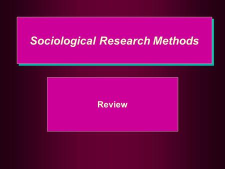 Sociological Research Methods Review. 10 Review Questions 1.Name three types of research 1.Quantitative (Deductive) 2.Qualitative (Inductive) 3.Descriptive.