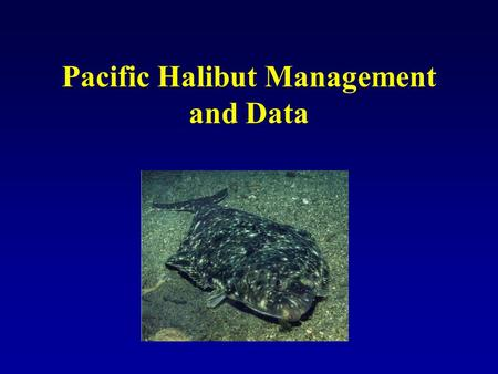 Pacific Halibut Management and Data. Data Inputs to IPHC for Removal Estimates and Assessment From CDQ groups or individuals directly Commercial Landings.