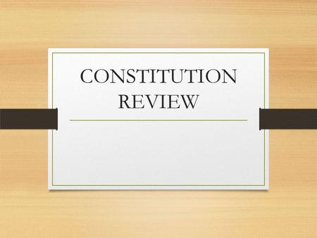 CONSTITUTION REVIEW. What year was the current Illinois Constitution ratified? 1. 1871 2. 1950 3. 1970 4. 1890.
