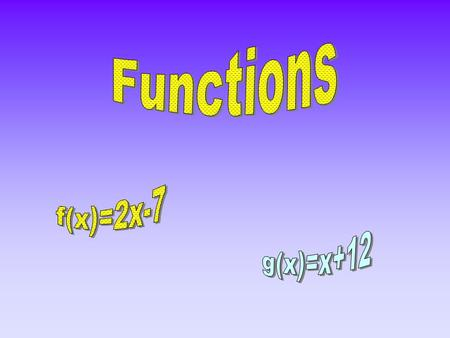 A function is a special kind of relation. (A relation is an operation, or series of operations, that maps one number onto another.)