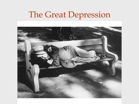 The Great Depression. Effects on Canada effected everyone in some way and there was basically no way to escape it. Canadians became dependent on government.