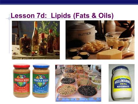 Lesson 7d: Lipids (Fats & Oils) Regents Biology Lipids Concentrated energy molecules.