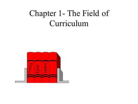 Chapter 1- The Field of Curriculum Dewey Tyler Counts.