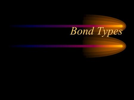 Bond Types. Let's Look At 3 Types of Bonds Ionic Polar Covalent (Molecular) Nonpolar Covalent (Molecular)