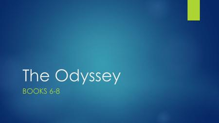 The Odyssey BOOKS 6-8. Christoph Amberger, Odysseus and Nausicaa, 1619.