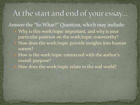 compare and contrast two literary works Compare and contrast two literary works from this course that share the the paper should be organized around your thesis (argument), which is the main point of the.