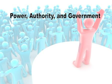 The Nature of Power, Politics, and Government Learning Outcomes 1.Understand why it is important to care about power, politics, and government. 2.Evaluate.