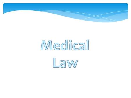 Medical law and its place in the system of law and legislation in Ukraine. Legislative provision in healthcare in Ukraine.  The concept, object, method.