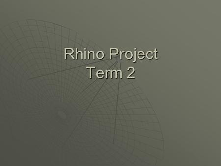 Rhino Project Term 2. First project  For the first project of term 2 we had to create a chair that for a office or a business.  The chair has to have.