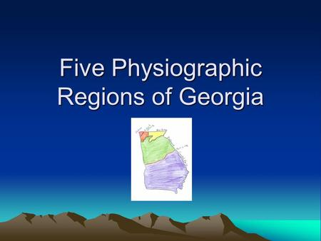 Five Physiographic Regions of Georgia. Appalachian Plateau 5 facts about the Appalachian Plateau Region Is one of the smallest physiographic areas A plateau.