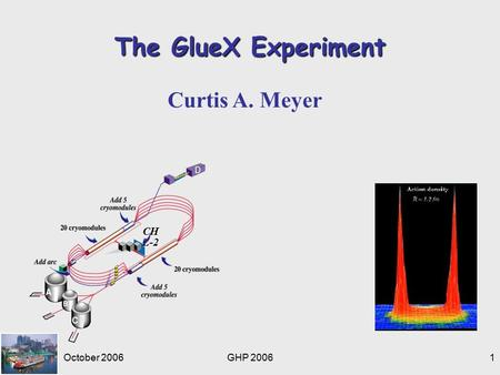 October 2006GHP 20061 The GlueX Experiment Curtis A. Meyer CH L-2.