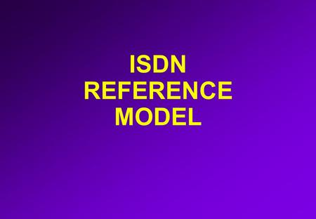 ISDN REFERENCE MODEL. BASIC RATE ACCESS (BRI) 2B + D S0 interface B-CHANNEL D-CHANNEL BRI.