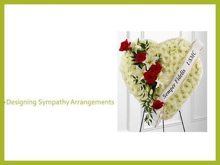 Designing Sympathy Arrangements. Next Generation Science / Common Core Standards Addressed! CCSS.ELA Literacy. RST.11‐12.3 Follow precisely a complex.