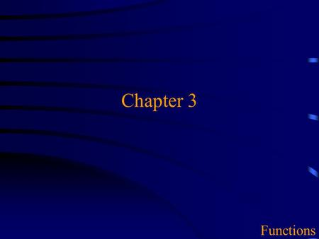 Chapter 3 Functions. 2 Overview u 3.2 Using C++ functions  Passing arguments  Header files & libraries u 3.4-5 Writing C++ functions  Prototype  Definition.