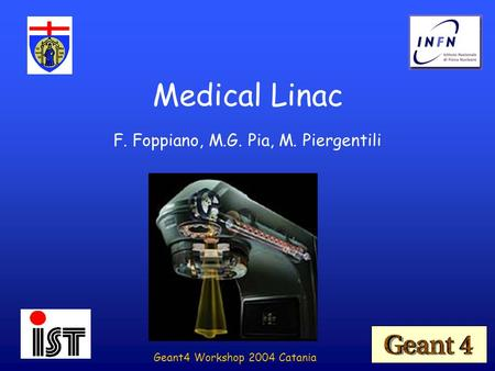 F. Foppiano, M.G. Pia, M. Piergentili Medical Linac Geant4 Workshop 2004 Catania.