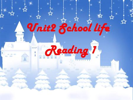 Unit2 School life Reading 1 预习检测与导入 学习目标 1. 知识目标 Words: m ixed , offer , French , end , foreign , baseball , Language , win , during , discuss , guy.