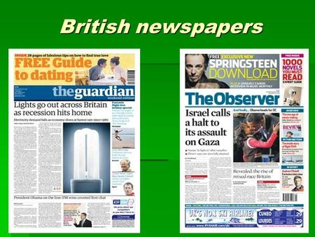 British newspapers.
