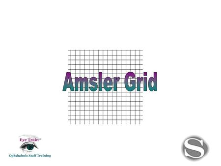 What is the Amsler grid? Amsler grid: (AM-slur) test card, graph paper-like grid used in detecting central visual field distortion or defects.