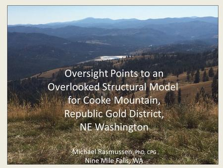 Overlooked Structural Model for Cooke Mountain,