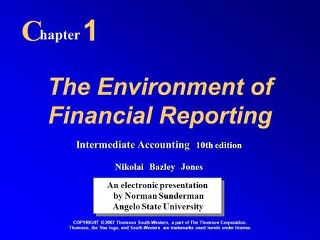 financial accounting theory the reporting environment essay