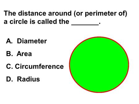 relationship of diameter and area a circle