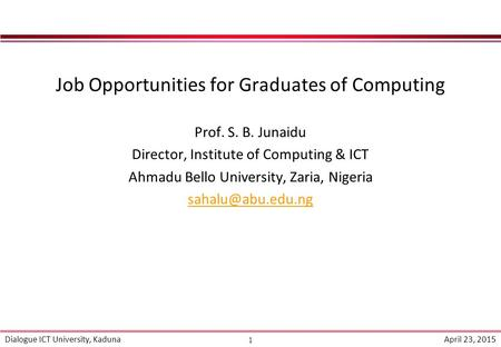 Job Opportunities for Graduates of Computing