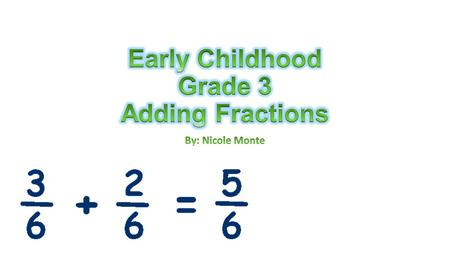 1.Students will distinguish the difference between adding and subtracting fractions 2.Students will be able to explain how to add and multiply fractions.
