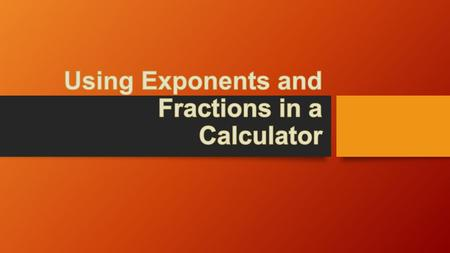how to use iphone calculator for exponents