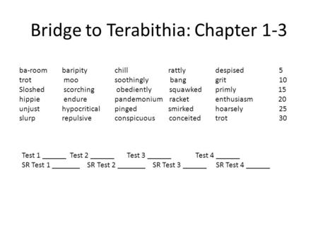 "thesis statement for bridge to terabithia 1 introduce the book bridge to terabithiaask students to label a sheet of notebook paper ""bridge to terabithia predictions"" then pose questions a–d below, adapting them as necessary to apply to the specific edition you have available."