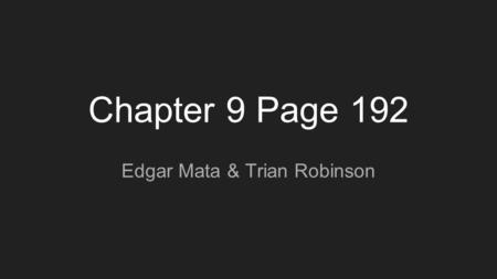 Chapter 9 Page 192 Edgar Mata & Trian Robinson. Formatting A plan for the organization and arrangement of a specific production. Standard Formatting Visual.