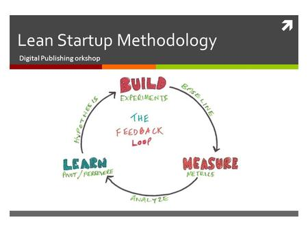  Lean Startup Methodology Digital Publishing orkshop.