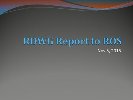 Nov 5, 2015. RRGRR 007 Adding Solar Registration Inputs The RDWG met on October 20, and has completed it's review of RRGRR 007 with the revised Impact.