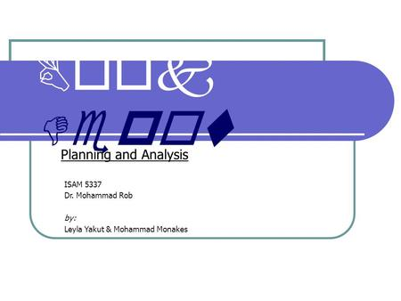 Book Depot Planning and Analysis ISAM 5337 Dr. Mohammad Rob by: Leyla Yakut & Mohammad Monakes.